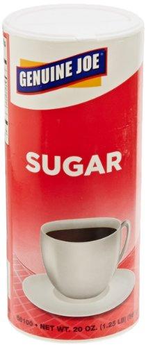 Genuine Joe Gjo56100Ct Natural Sweetener Pure Cane Sugar, 20 Oz Canister (8 Packs Of 3)