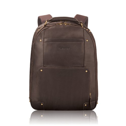 B000V4TO7A Solo Vintage Colombian Leather Laptop Backpack, Holds Notebook Computer up to 15.6 Inches, Espresso (VTA701-3)