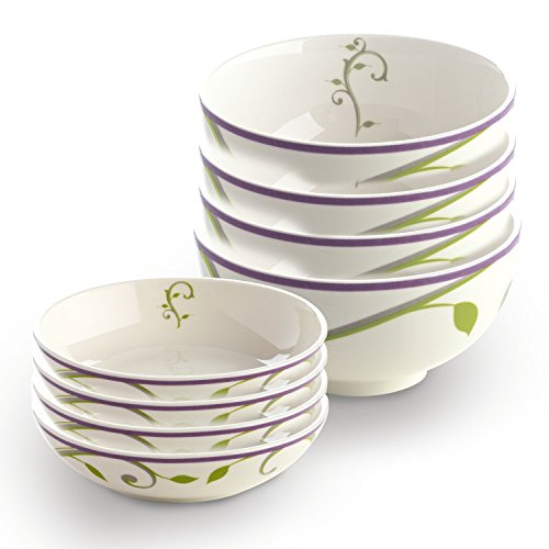 Portion Control Bowls Clearance Sale - Nutrition Ceral & Snack Combo Porcelain Bowl - Comes As A Set Of 4