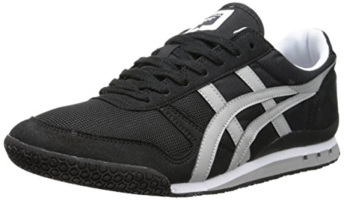 Onitsuka Tiger Ultimate 81 Classic Running Shoe, Black/Light Grey, 5.5 M US