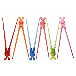Baby Children Cartoon Style Chopsticks Easy Fun Learning Helper
