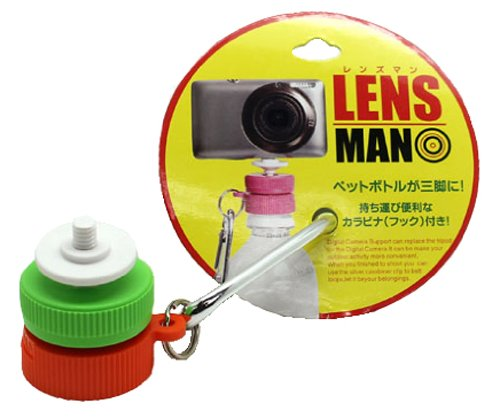 LENSMAN(レンズマン) 白・グリーン・オレンジ 【ペットボトルが三脚に早変わり】 09348W2