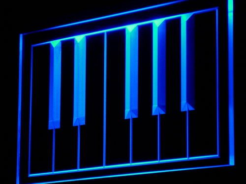 ADV PRO m016-b Piano keyboard Keys Bar Song Pub Neon Light Sign Enseigne Lumineuse