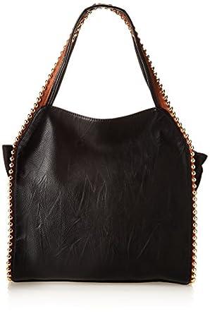BIG BUDDHA Grayson Shoulder Bag, Black/Cognac, One Size