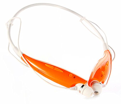 Universal Wireless Bluetooth In-Ear Sports Stereo Headset Headphone For Apple Iphone Samsung Htc Motorola Lg (Orange)