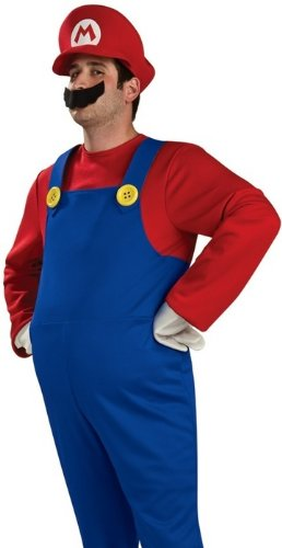Mens Deluxe Super Mario Brothers Halloween Costume