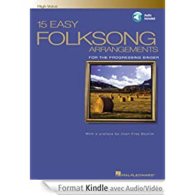 15 Easy Folksong Arrangements: High Voice Introduction by Joan Frey Boytim