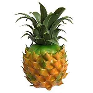 Gresorth 1pcs lifelike artificial big yellow for Artificial pineapple decoration fruit