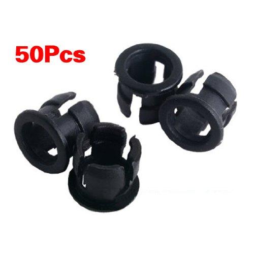 Sodial(R) 50 5Mm Black Plastic Led Holder Case Clip Display Panel