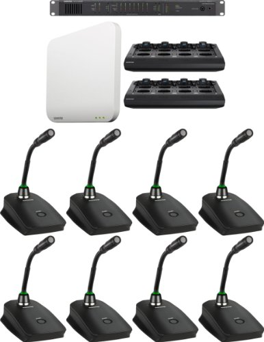 """Shure Mxws8G5/C Microflex Wireless 8 Channel Conference Room System With 5"""" Cardioid Gooseneck Micophone"""