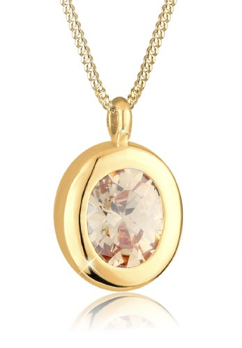 Goldhimmel Damen Halskette 925 Sterling Silber Kristall Zirkonia 45 cm gold 0109961313_45