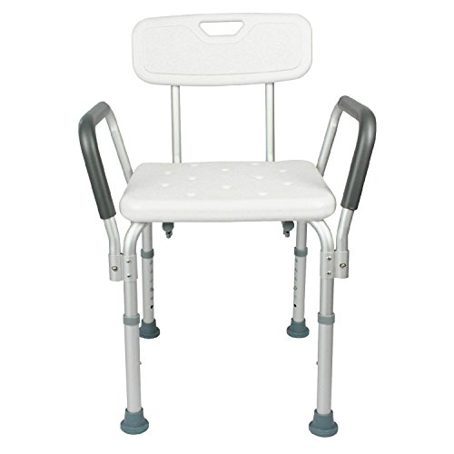 Shower Chair With Back By Vive U2013 Bathtub Chair W/ Arms For Handicap,  Disabled, Seniors U0026 Elderly U2013 Adjustable Medical Bath Seat Handles For  Bariatrics U2013 Non ...