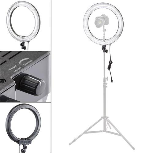 Flashpoint-PhotoVideo-19-AC-Powered-600W-5500K-Dimmable-Fluorescent-Ring-Light-With-Bag-Light-Only