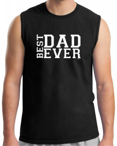 Best Dad Ever Father'S Day Sleeveless T-Shirt Medium Black front-907870