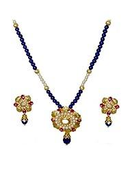 Kshitij Jewels Metal Pendant Necklace Set For Women (KJM 063)