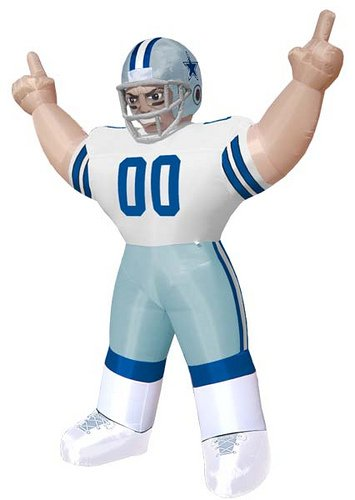 inflatable christmas backyard decorations:Huge 8' national football league Dallas boys Standing blow up Player outside Yard design Images