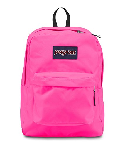 Jansport Classic Superbreak Backpack, Fluorescent Pink back-954835