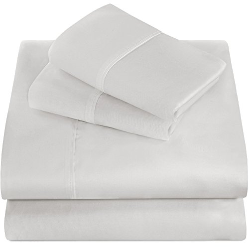 Premium 1800 Ultra-Soft Microfiber Collection Full Sheet Set, Hypoallergenic, Easy Care, Wrinkle Resistant, Deep Pocket (Full, White) (Full Sheet Set Hotel compare prices)