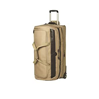 National Geographic Luggage Kontiki Drop Bottom Rolling Duffel, Khaki, One Size