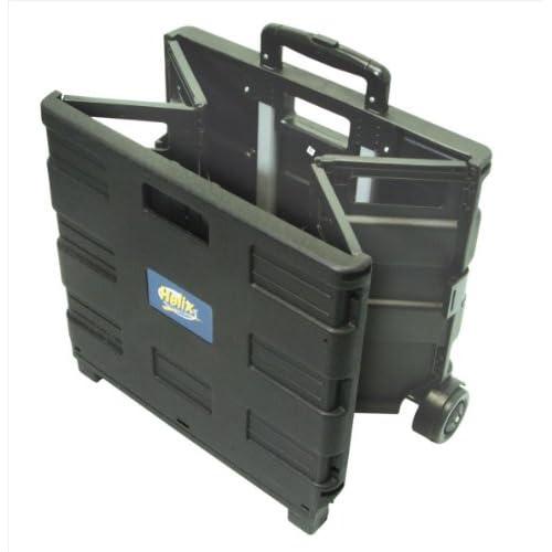 Amazon.com : Helix Folding Wheeled Crate, Black/Blue (31313) : Utility