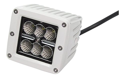 3X3 6Kled 18Watt White Cree Led Light Flood Beam Atv/Utv Street Tractor Cube Square- Offroad Used (Packpack Of 1)