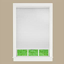 DEZ Furnishing QCWT600480 Cordless Cellular Light Filtering Shade, White - 60 W x 48 L in.