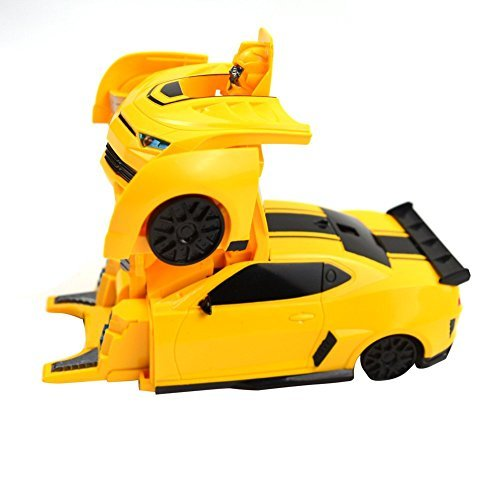 MSMY Wall-clambing Transformable robot Chevrolet Camaro Rc Radio Remote Control Bumblebee Transformers Drifting Car & Robot with one touch transforming --2827X (Chevrolet Robot compare prices)