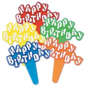 Happy Birthday Cupcake Picks
