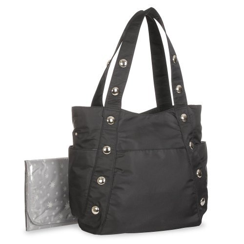 Heidi Klum Black Fashion Diaper Bag