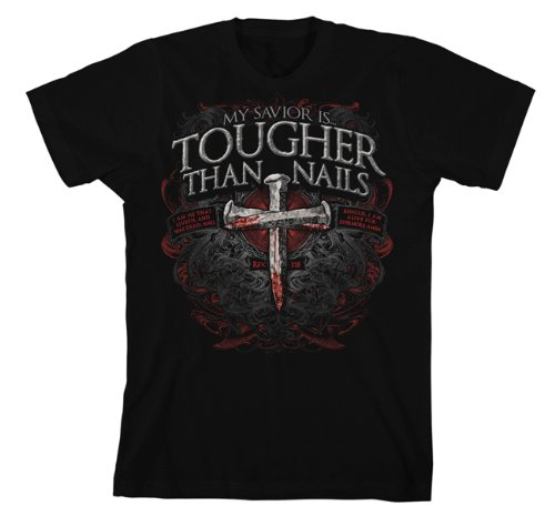 Kerusso-Adult-My-Savior-is-Tougher-than-Nails-3-Christian-Shirt