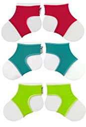 Sock Ons Clever Little Things That Keep Baby Socks On! 3 Pack Brights 0 - 6 Months