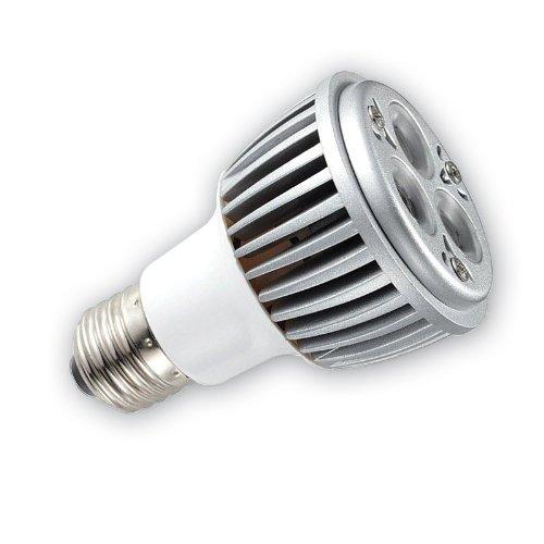 Light Efficient Design Led-1626 Cree Par20 E27 Base 120-Volt 6-Watt 3-Led Dimmable Bulb, Warm White