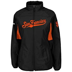 San Francisco Giants Black Ladies Authentic Double Climate On-Field Jacket by... by Majestic
