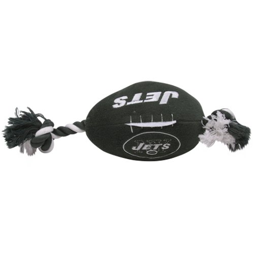 New York Jets Pet Football Rope Toy, 6-Inches long