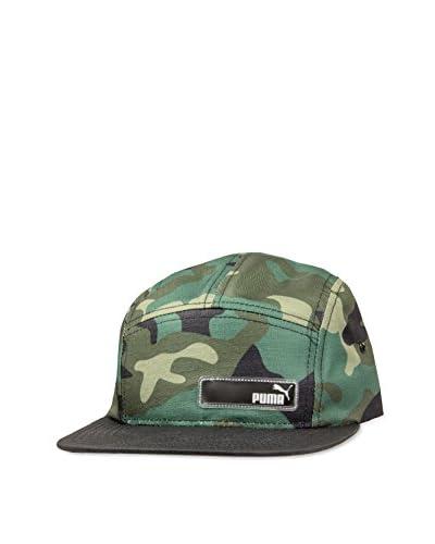 Puma Men's Outlier 5 Panel Flat Bill Hat, Camo, One Size