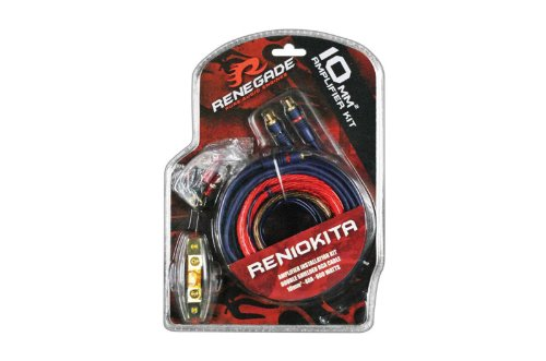 Renegade Ren10Kita 8 Gauge Amplifier Install Kit Anl Fuse