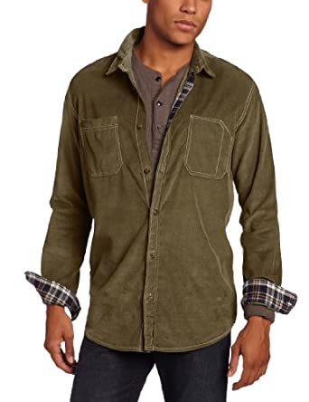 Unionbay Men's Long Sleeve Arden Baby Wale Corduroy, Military, X-Large