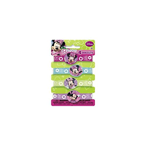 Minnie Mouse Rubber Bracelets, 4ct - 1
