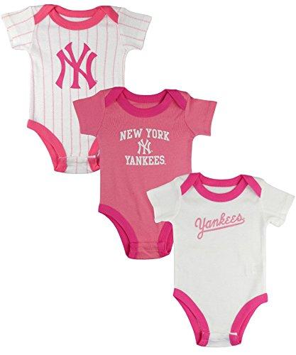 Majestic Yankees-Set intimo Bambino    Rosa (Pink Stripe/Pink/White) 3 mesi