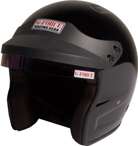G-Force 3021XLGBK Pro Phenom Black X-Large SA10 Open Face Racing Helmet (Open Face Racing compare prices)