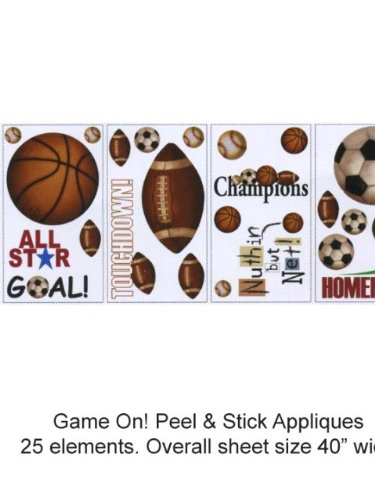 Wallpaper York Brothers And Sisters Volume 4 Game On! Peel & Stick Appliques Rmk1001Scs