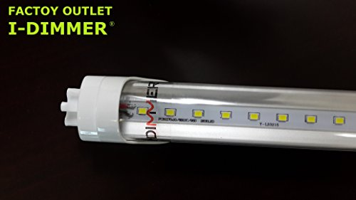 Factory Outlet! I-Dimmer® Led Transparent Tube 4Ft T8 18W,Replace 60W Fluorescent Tube, Ul Listed, Large Stock.Provide Oem Service.