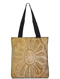 Snoogg Abstract Design In Sand Digitally Printed Utility Tote Bag Handbag Made Of Poly Canvas