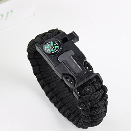 black-shihan-survival-paracord-bracelet-camping-outdoor-rescue-parachute-cord-wristband-flint-fire-s