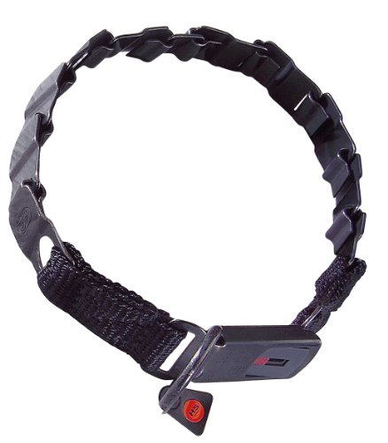 luvmydog-worldwide-neck-tech-fun-black-stainless-steel-cliclock-buckle-flat-collar-48cm-19