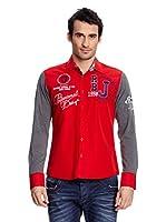 Redbridge Camisa Hombre (Rojo / Gris)