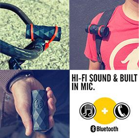 Outdoor Tech Buckshot - Super Portable Rugged Bluetooth Speaker with Hi-Fi Sound & Built-In Mic