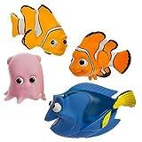 Disney Theme Park Educational Products Nemo Bath Buddies 4 Piece Toy Set