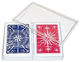 Trademark Poker Gemaco 100% Plastic Star Standard Poker 2 Deck Setup Playing Cards (Multi)