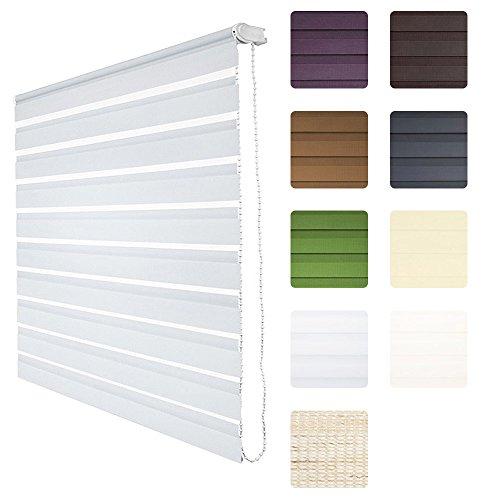 Sol Royal® Tenda a doppio rullo (LxA) 60x220 - bianco - ganci per il telaio inclusi, senza perforare le pareti